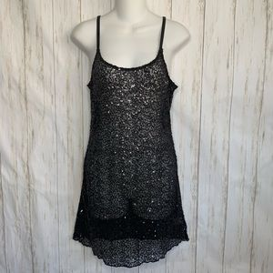 Intimately Free People Cami Tank Sequins Black
